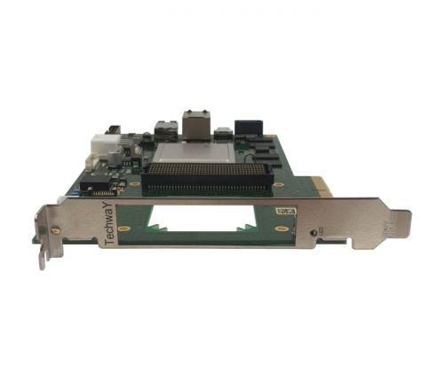zynq board pcie avec fmc+ - PFP ZU front
