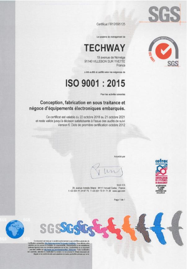 Politique Qualité - Certificat ISO 9001